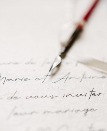ecriture faire part calligraphie